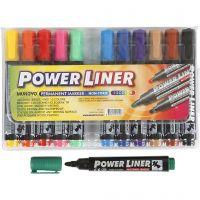 Power Liner, spets 1,5-3 mm, mixade färger, 12 st./ 1 förp.