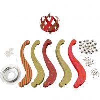 Pappersstrimlor inklusive monteringsset, stl. 12x1,5 cm, 180 g, 12 st./ 1 förp.