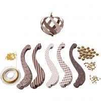 Pappersstrimlor inklusive monteringsset, L: 12.5 cm, B: 1,5 cm, 180 g, 12 st./ 1 förp.