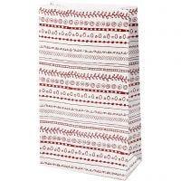 Papperspåsar, doodles, H: 21 cm, stl. 6x12 cm, 8 st./ 1 förp.