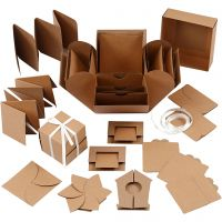Exploding Box, stl. 7x7x7,5+12x12x12 cm, natur, 1 st.