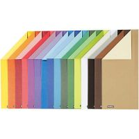 Colorbar rivkartong, A4, 210x297 mm, 250 g, 16 mix. ark/ 1 förp.