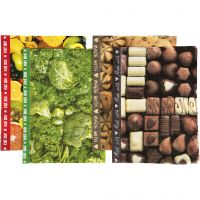 Decoupagepapper , 25x35 cm, Innehållet kan variera , 17 g, 400 mix. ark/ 1 förp.