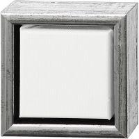 ArtistLine Canvas med ram, djup 3 cm, stl. 14x14 cm, antiksilver, vit, 1 st.