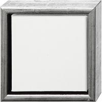 ArtistLine Canvas med ram, djup 3 cm, stl. 19x19 cm, antiksilver, vit, 1 st.