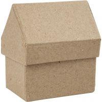 Pappaskar hus, H: 10,5 cm, stl. 6x8,5 cm, 4 st./ 1 förp.