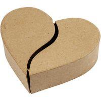 Pappask hjärta, H: 5 cm, Dia. 16,5 cm, 1 st.