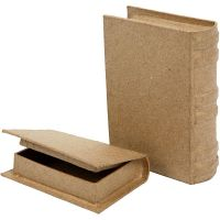 Pappaskar miniböcker, stl. 8x11,5x2,5 cm, 2 st./ 1 set