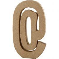 Pappsymbol, @, H: 19,9 cm, B: 11,5 cm, tjocklek 2,6 cm, 1 st.