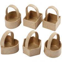 Minikorgar, H: 6,5 cm, stl. 4,5x4,5 cm, 6 st./ 1 förp.