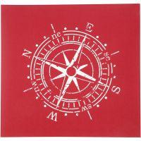 Screen stencil, Kompass, 20x22 cm, 1 ark