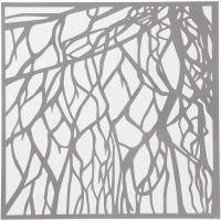 Stencil, rötter, stl. 30,5x30,5 cm, tjocklek 0,31 mm, 1 ark