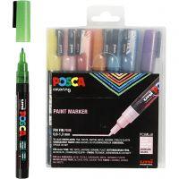 Posca Marker , nr. PC-3ML, spets 0,9-1,3 mm, glitter färger, 8 st./ 1 förp.