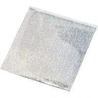 Limfolie, 10x10 cm, silver, 30 ark/ 1 förp.
