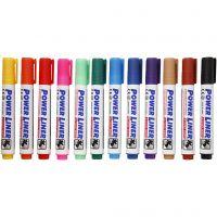 Whiteboardmarker, spets 4 mm, mixade färger, 12 st./ 1 förp.