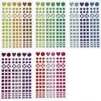 Stickers till mosaik, Dia. 8-14 mm, 11x16,5 cm, mixade färger, 10 ark/ 1 förp.