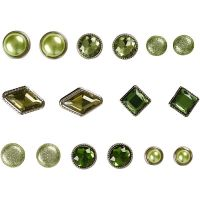 Brads, stl. 8-18 mm, grön, 16 st./ 1 förp.