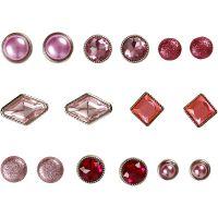 Brads, stl. 8-18 mm, rosa, 16 st./ 1 förp.