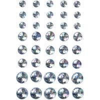 Halv-pärlor, stl. 6+8+10 mm, blå, 40 st./ 1 förp.