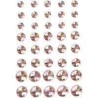 Halv-pärlor, stl. 6+8+10 mm, rosa, 40 st./ 1 förp.