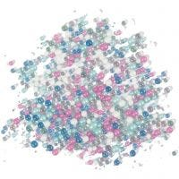 Miniglaskulor, stl. 0,6-0,8+1,5-2+3 mm, 600 g/ 1 burk