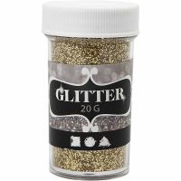 Glitter, guld, 20 g/ 1 burk