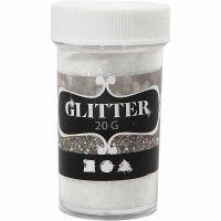 Glitter, vit, 20 g/ 1 burk