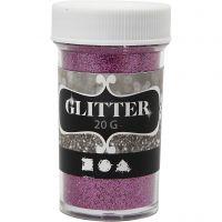 Glitter, rosa, 20 g/ 1 burk