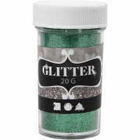 Glitter, grön, 20 g/ 1 burk