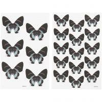 Stickers, 9x14 cm, stl. 4x3,5 cm, 4 mix. ark/ 1 förp.