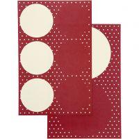 Stickers, Dia. 4+6,5 cm, 9x14 cm, 4 mix. ark/ 1 förp.