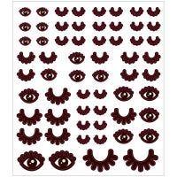 Stickers, ögon, 15x16,5 cm, 1 ark