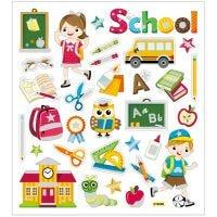 Stickers, skola, 15x16,5 cm, 1 ark