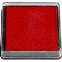 Stämpeldyna, stl. 40x40 mm, röd, 1 st.