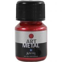 Art Metal färg, lavaröd, 30 ml/ 1 flaska