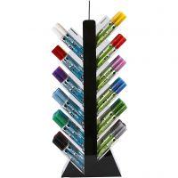 Glas- och porslinstusch, H: 52 cm, djup 11,5 cm, B: 24 cm, mixade färger, 24x6 st./ 1 förp.