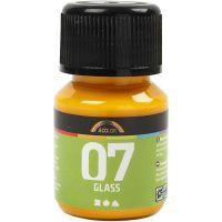A-Color Glas, gul, 30 ml/ 1 flaska