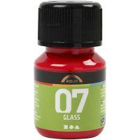 A-Color Glas, röd, 30 ml/ 1 flaska