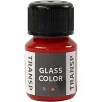 Glasfärg transparent, röd, 30 ml/ 1 flaska