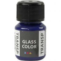 Glasfärg transparent, briljantblå, 30 ml/ 1 flaska
