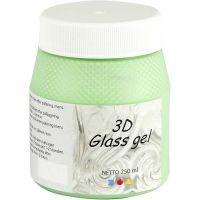 3D Glass gel, grön, 250 ml/ 1 burk