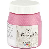 3D Glass gel, rosa, 250 ml/ 1 burk