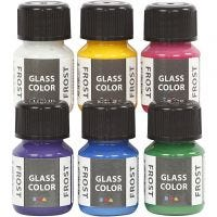 Glasfärg frost, mixade färger, 6x30 ml/ 1 förp.