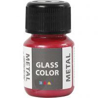 Glasfärg metall, röd, 30 ml/ 1 flaska