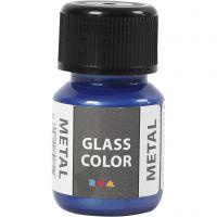 Glasfärg metall, blå, 30 ml/ 1 flaska