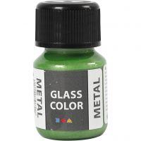 Glasfärg metall, grön, 30 ml/ 1 flaska