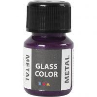 Glasfärg metall, lila, 30 ml/ 1 flaska