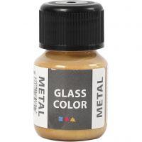 Glasfärg metall, guld, 30 ml/ 1 flaska