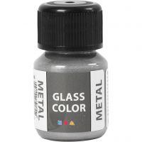 Glasfärg metall, silver, 30 ml/ 1 flaska