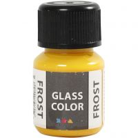 Glasfärg frost, gul, 30 ml/ 1 flaska